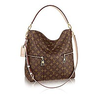 LV Women Shopping Leather Tote Authentic Louis Vuitton Mélie Monogram Canvas Leather Shoulder Handbag Article:M41544 Made in France