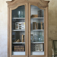 French Armoire Display Case Cupboard by FrenchEclectic on Etsy