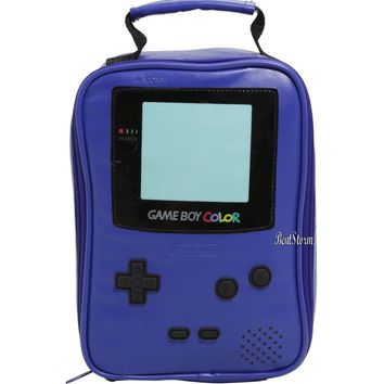 Licensed cool Nintendo Game Boy Color PURPLE School Lunch Bag Box Insulated Cooler Bag NEW