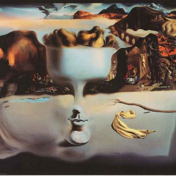 Dali Apparition of Face and Fruit Bowl Poster 24x36