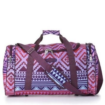 5 Cities/Frenzy Ultra Lightweight Cabin Size Carry on holdall -RyanAir Approved Flight/Weekend/Overnight Bag (55x40x20mm) Large 32L Capacity, Ripstop Material, Optional Shoulder Strap. (Aztec Multicolour):Amazon:Clothing