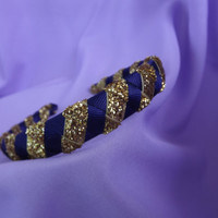 Notre Dame Blue and Gold Sparkle Headband