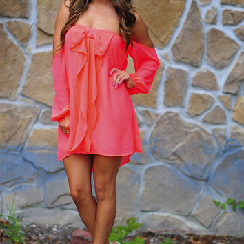 Happily Ever After Bow Dress: Neon Pink | Hope's