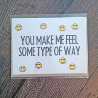 Funny Boyfriend Card Anniversary Valentine Just Because Rap Rapper Music Happy Face Pop Culture