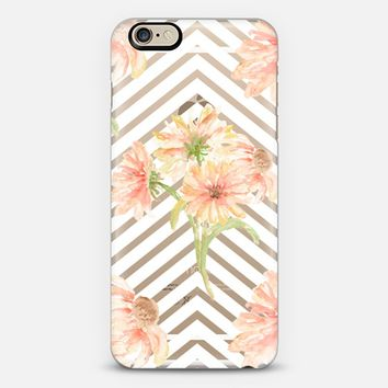 Chevron Blooms iPhone 6 case by Allison Reich | Casetify