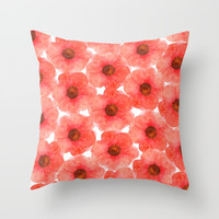 Red flowers Art Print by Julia Grifol Designs