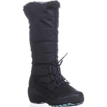 Khombu Ashton Cold Weather Tall Boots, Black, 6 US