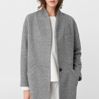 Cocoon wool-blend coat - Women | MANGO USA
