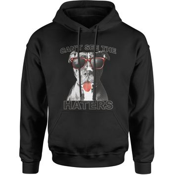 Pitbull Can't See The Haters Adult Hoodie Sweatshirt