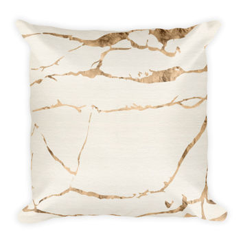 Brooke II Ivory & Gold Bohemian Pillow