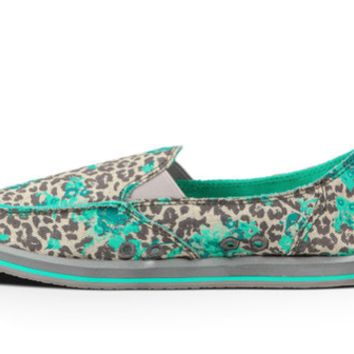Sanuk Women's Donna Mixed up Leopard Floral Slip-On Shoes