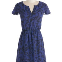 Kensie Mid-length Cap Sleeves A-line Flower of Need Dress