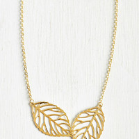 Rustic Two Frond of You Necklace by ModCloth