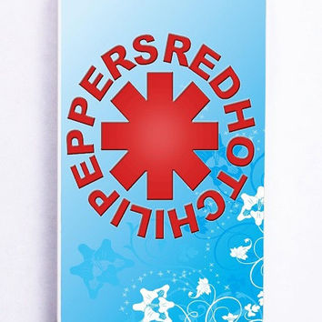 iPhone 5S Case - Rubber TPU Cover with Red Hot Chili Peppers 2 Rubber Case Design