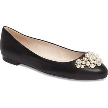 Louise et Cie Arella Imitation Pearl Embellished Flat (Women) | Nordstrom