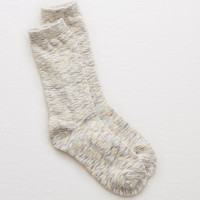 Aerie Marled Crew Socks, Slab Gray