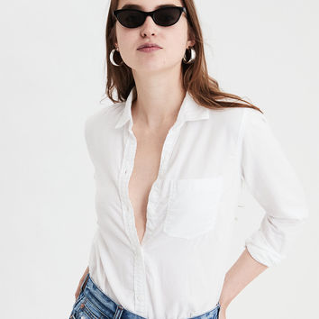 AE Classic Button Up Shirt, White