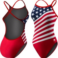 TYR Women's American Flag Crosscutfit Back Swimsuit | DICK'S Sporting Goods