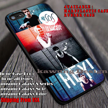 5sos, music group, luke, mikey, calum, ashton, 5 sos, 5 Second of Summer, case/cover for iPhone 4/4s/5/5c/6/6+/6s/6s+ Samsung Galaxy S4/S5/S6/Edge/Edge+ NOTE 3/4/5 #music #5sos ii