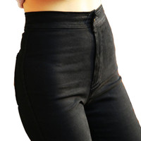 Lady Women Black High Waist Skinny Pants Pencil Denim Trousers Jeans XS-XL 2 Colors