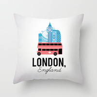 London, England Throw Pillow by Milli-Jane