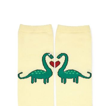 Dinosaur Love Ankle Socks