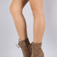 Wild Diva Lounge Suede Stiletto Heeled Ankle Boots