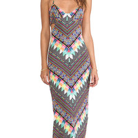 Mara Hoffman Modal Cutout Maxi Dress in Black