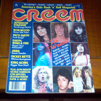 Creem Magazine 1977 Rolling Stones Patti Smith ABBA Heart Allman Brothers Vintage Classic Rock & Roll Music Collectible