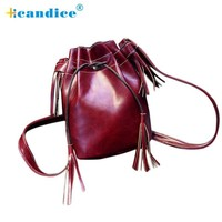 Bucket bag modern 6 Colors Tassel Girl Lady fashion leather