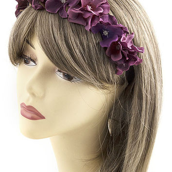 """Flowers in Her Hair"" Floral Headband"