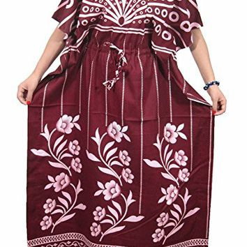 Long Kaftans Bohemian Hippie Caftan Beach Wear Cover up Brown Maxi Dress: Amazon.com: Clothing