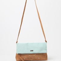 Roxy Nightfall Canvas & Faux Leather Crossbody Bag - Womens Handbags