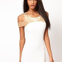 John Zack Sequin Top Pencil Dress at asos.com