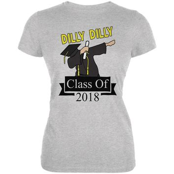 Dilly Dilly Dabbing Graduation Class Of 2018 Juniors Soft T Shirt