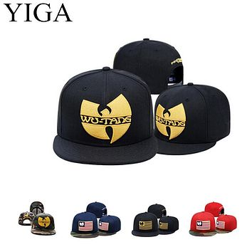 YIGA 2017 New Fashion Camo Baseball cap Wu Tang Snapback hats for men women hip hop  caps