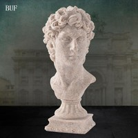 BUF Modern Abstract David Head Statue Sculpture Resin Ornaments Home Decoration Accessories Gift Geometric Resin Sculpture