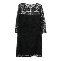 J. Crew Collection NWT Black Lace 3/4 Sleeve Lined Evening Cocktail Dress Sz 12
