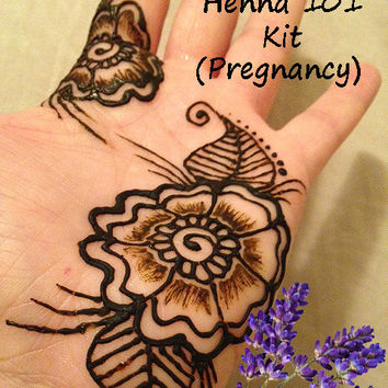 Henna 101 Kit (Pregnancy) -  Mehndi, body art, cool, sensitive skin, gift for her, girlfriend, baby shower, easter