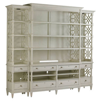 Pavillion Media Bookcase, Gray, Bookcases & Bookshelves