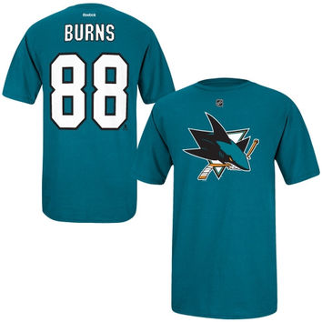 Brent Burns San Jose Sharks Reebok Name and Number Player T-Shirt – Teal