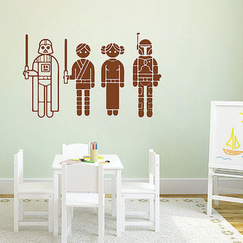 kik2716 Wall Decal Sticker Star Wars characters nursery teenager