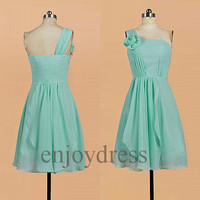 Custom Mint Short Prom Dresses New Bridesmaid Dresses 2014 Cheap Evening Gowns Fashion Party Dress Homecoming Dresses Fashion Evening Dress