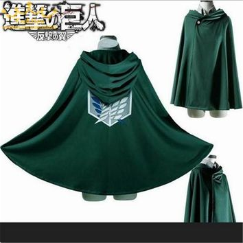 Cool Attack on Titan 2018 Japnese Anime no  Cloak  Cosplay Costumes Hoodie Cape Wings of dom AT_90_11