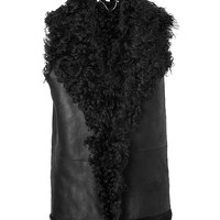 Vanessa Bruno - Leather Vest with Shearling Lining