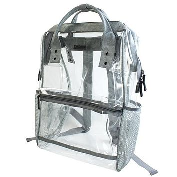 Clear Hinge Top Backpack | Grey