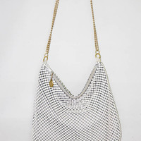 White Whiting and Davis Large Mesh Purse