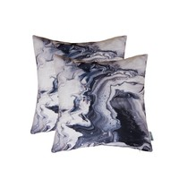 HWY 50 Throw Pillows Covers For Couch / Bed 18 by 18 inch , Set of 2 Thicken Cotton linen Printing Home Decorative Sofa Throw Pillows Cases , Contemporary Art ink painting Cushion Covers