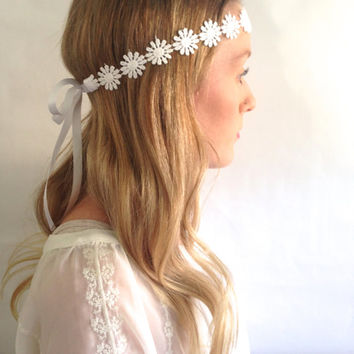 Flower Crown - Baby Lace Headband - Boho Lace Headband - Mommy and Me Headband - Flower Headband - Lace headband - Baby Flower Headband