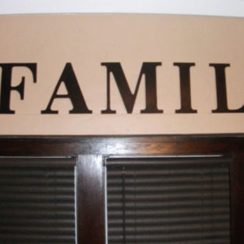 FAMILY wooden letter wall decal, Wooden Word, Lettering, wall decor,